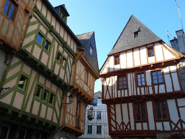 Les colombages du centre-ville de Vannes